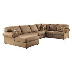 Ashley Furniture Cowan 3 Piece Sectional Sofa in Mocha - 30703-16-34-67-KIT