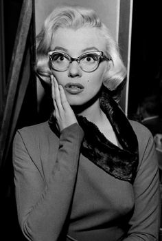 "Marilyn Monroe in ""How to Marry a Millionaire,"" blind as a bat"