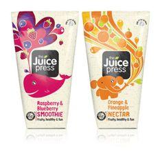 The Juice Press kids packaging