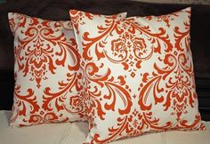 I love anything with a damask print saw these on Etsy   FREE SHIPPING Set of Two 20x20 inch Designer by thislittlehome, $35.00