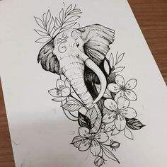 Learn To Draw A Realistic Rose Learn To Draw A Realistic Rose Elefante Cute Tattoos, Flower Tattoos, Body Art Tattoos, New Tattoos, Awesome Tattoos, Tattoo Sketches, Tattoo Drawings, Drawing Sketches, Art Drawings