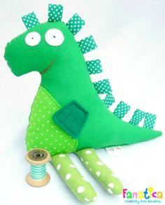 Green Dragon Soft Stuffed Animal. Plush for by FanaticaBarcelona, €23.90