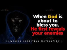 God will Bless You in the presence of Your Enemies | Powerful Motivational & Inspirational Video - YouTube Inspirational Videos Youtube, Charles Spurgeon Quotes, Christian Motivation, Lion Of Judah, Daily Thoughts, Worship Songs, Positive Life, Spiritual Quotes, Word Of God