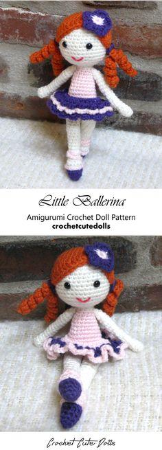 Little Ballerina Amigurumi Crochet Doll Pattern & Tutorial by Crochet Cute Dolls