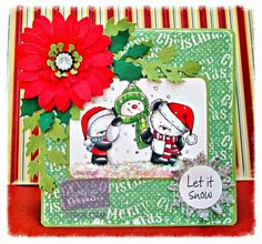 Dream Laine: Snow Much Fun, a cute Party Paws creation. Christmas Party Paws image and sentiment - Snow Much Fun Spectrum Noir markers used GG1, GG2, GG3, GG4, DR7, DR7, DR5, , TB1,TB2. CR11, CR9, CR7, CR5, CR3, LY1, LG1, LG3, LG4. Spectrum Noir pencils used; 28, 32, 47, 74, 114, 120 Core'dinations Card  Crafter's Companion Embossing Folder  Crafters Companion Sunflower - Large, small and Lace Die'sire Quilling Die Crafters Companion Die'sire Dies - Ivy, Holly, Snowflakes