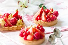 Tartelettes passion/fruits rouges // Red and passion fruits tarts