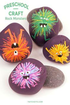 Halloween Rocks, Fun Halloween Crafts, Fun Crafts For Kids, Art For Kids, Halloween Kids, Children Crafts, Simple Crafts, Simple Art, Holiday Crafts