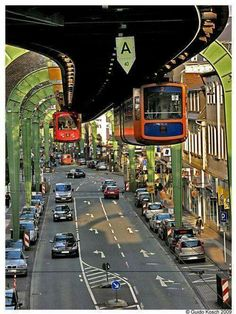Wuppertal suspension railway Germany