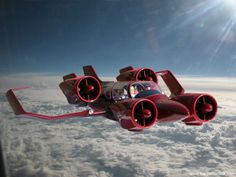 """Meet the true Jetson vehicle. A """"VTOL"""" (vertical take-off and landing) flying car, the M400 is the life's work of inventor Paul Moller."""