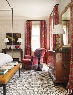 Lively, yet classic, mix of patterns | Bunny Williams | Architectural Digest...