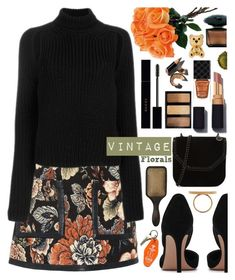 """Smell the Roses: Vintage Florals"" by tinkabella222 ❤ liked on Polyvore featuring STELLA McCARTNEY, Bobbi Brown Cosmetics, Gucci, Versace, Calvin Klein 205W39NYC, Three Potato Four, vintage, StellaMcCartney, CalvinKlein and vintageflorals"