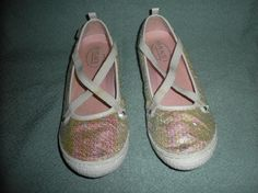 GIRL'S SEQUINED FLATS SIZE 5 CHILDREN'S PLACE