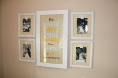 DIY Burlap Clip Frames Tutorial ~ super easy and really cheap to make