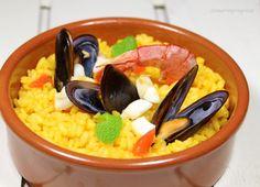 Paella de marisco alla menta e datterini | Dinner in Progress