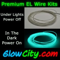 Portable battery powered EL Wire for DIY projects #stpatricksday ...
