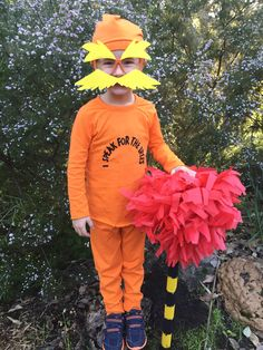 The Lorax costume for #bookweek #thelorax
