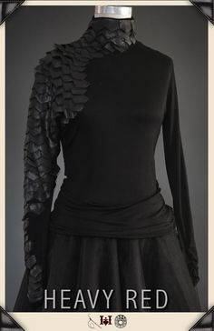 0860f12a97f Gothic Shirts and tops by Gothic Clothing designer Ondine for Heavy Red  Couture Noir. Goth