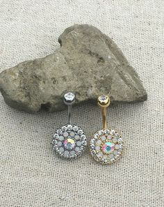 Belly Button Jewelry Crystal Belly Button Ring Navel