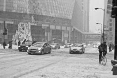 James R. Thompson Center, snowy day