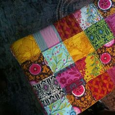 patchwork stool~ by beth~yellowhousedays, via Flickr