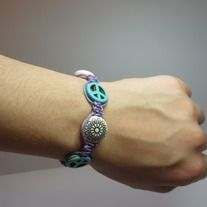 This original handmade Boho style shamballa bracelet will finish any outfit and add a splash of colour. http://deadwithtequila.storenvy.com/collections/738816-shamballa-bracelets/products/10405902-0119b-shamballa-bracelet