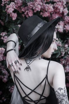 #witchvibes with Mellifere wearing her 'Witchcraft' pendant, 'Coven' and 'Huntress' rings in black. Summon yours from www.trickery.com.au 🔮🖤 #witchcraft #nugoth #witchy #gothgirl #goth #jewellery #alternative #fashion