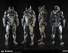Modeled and textured the Hyperguardian armor for MEA.  Art Director: Joel Macmillan. Concept Artist: Brian Sum. Shader Artist: Nick Sadler.