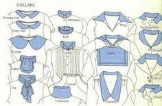 Há muitos tipos de gola. Nos desenhos abaixo estou demonstrando alguns tipos de acabamento em golas de camisa e casaco.
