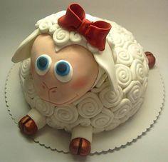 Cute sheep cake