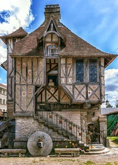 Medieval house located in the Village of Argentan, France, built in 1509