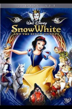 I love Snow White And The Seven Dwarfs. Snow White is my favorite Disney Princess