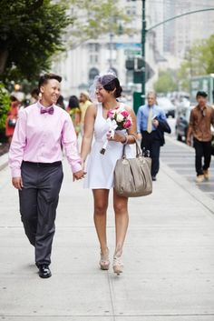 Simple Court House Weddings -- so romantic, almost like eloping <3