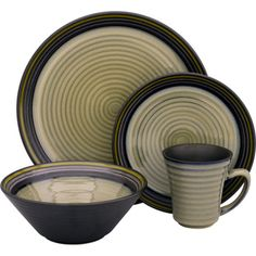 @Overstock - Bring a stylish touch to your table setting with this lovely 16-piece dinnerware set. Beautifully crafted in stoneware, and featuring a black or tropica pattern, this microwave-safe set makes dining more fun while still remaining easy to clean.http://www.overstock.com/Home-Garden/Sango-Tropica-Black-16-piece-Set/7184179/product.html?CID=214117 $48.49