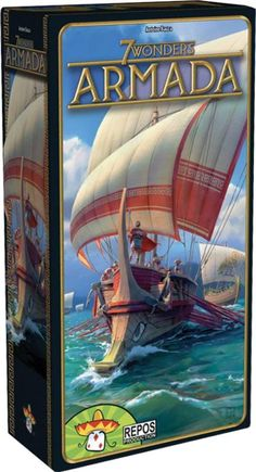 Repos Poduction 7 Wonders Armada Expansion, Various 7 Wonders Board Game, Expansion, Armada, Game Night, The Expanse, Victorious, Board Games, Things To Sell, Civilization