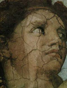 Detail of Eve - The Original Sin - Sistine Chapel Michelangelo