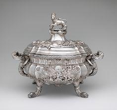 Tureen Maker: Paul de Lamerie  (British, 1688–1751, active 1712–51) Date: 1736/37 Culture: British, London Medium: Silver Dimensions: 30.2 x 35.2 x 26.4 cm, 4.694kg