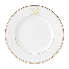 Lenox 'Federal Gold Monogram' - Our Favorite White China Patterns  - Southernliving. Buy It: $46 for dinner plate; macys.com