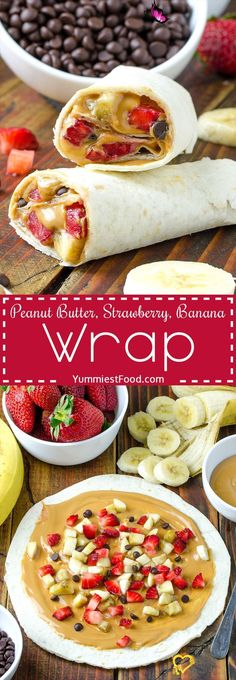 Healthy Peanut Butter, Strawberry, Banana Wrap Recipe HEALTHY PEANUT BUTTER, STRAWBERRY, BANANA WRAP - A fun breakfast or an after school snack! Delicious, easy and quick!<br> HEALTHY PEANUT BUTTER, STRAWBERRY, BANANA WRAP - A fun breakfast or an after school snack! Delicious, easy and quick! Easy Healthy Breakfast, Breakfast For Kids, Breakfast Recipes, Breakfast Ideas, Best Breakfast, Banana Breakfast, Funny Breakfast, Strawberry Breakfast, School Breakfast