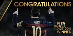 Lionel Messi, 5-time Ballon d'Or winner!  The football world congratulates Leo Messi / El món del futbol felicita Messi / El mundo del fútbol felicita a Messi