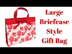 Large Briefcase Style Gift Bag - YouTube