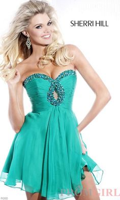Short Strapless Prom Dress, Sherri Hill Short Dresses- PromGirl