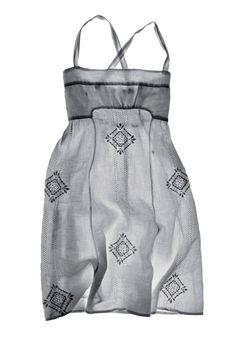 Matteo Folk Linen Dress