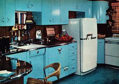 Kitchen designed by the editors of Good Housekeeping magazine, as featured in the November 1955 issue.
