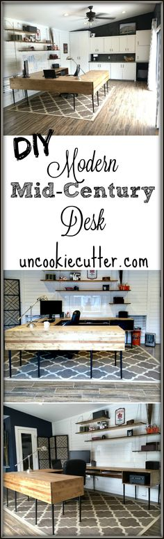 Modern Desk DIY - Uncookie Cutter