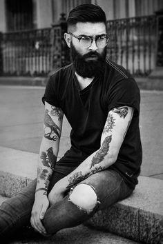 Pretavoir style ambassador Chris John Millington has been shortlisted for this years Scottish Fashion Awards. Boy Tattoos, Tattoos For Guys, Mens Tattoos, Sleeve Tattoos, Hairy Men, Bearded Men, Chris John Millington, Mr Beard, Epic Beard