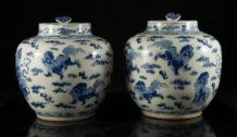 Antique Pair Of Chinese Urns