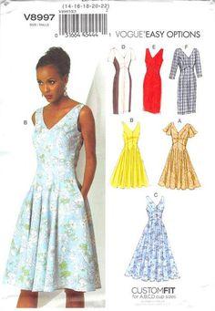 VOGUE 8997 - UNCUT - MISSES DRESS Modelli Di Abbigliamento a6daae12f62