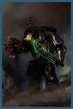 Deathwatch - Titan Comics Alt Cover (sans titles) by DavidSondered on DeviantArt Warhammer 40000 Deathwatch, Warhammer 40k Art, Warhammer Models, Warhammer 40k Miniatures, Warhammer Fantasy, Grey Knights, Dark Eldar, Imperial Fist, The Grim