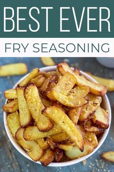 Garlic Parmesan French Fry Seasoning is so good, you will want to use it on EVERYTHING! This is the best fry seasoning recipe ever, not just for fries, but for burgers and even grilled cheese! #SundaySupper #frenchfries #friesseasoning #fryseasoning #frenchfryseasoning #easyrecipes #seasoning #spiceblend
