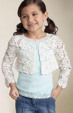Tecendo Artes em Crochet: Bolerinho Infantil Fofo!